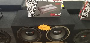 MB Quart system with Crunch Amp for Sale in Las Vegas, NV