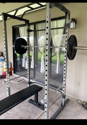 Power Rack,Bench,Weights, Barbell for Sale in Madera, CA