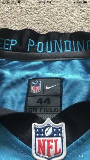 Game worn cam newton jersey size 44 need gone 40 lowest for Sale in Avondale, AZ