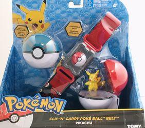 Pokemon Clip 'N' Carry Poke Ball Belt Pikachu by Tomy NIB! for Sale in Evanston,  IL