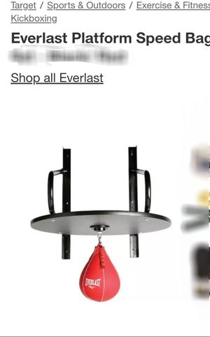 Everlast Platform Speed Bag Instalment for Sale in Olympia, WA