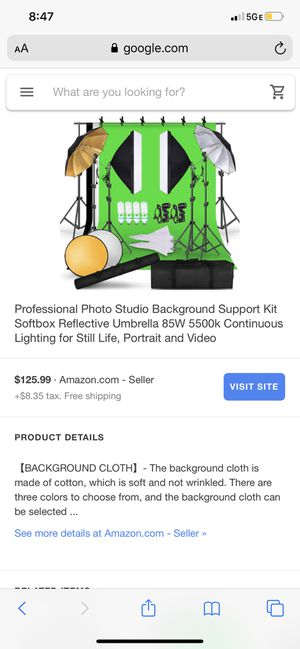 Pro Photography Setup (Never used) for Sale in Willingboro, NJ