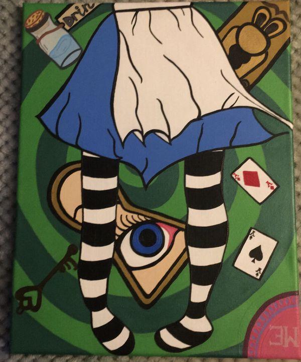 Alice in wonderland wall art