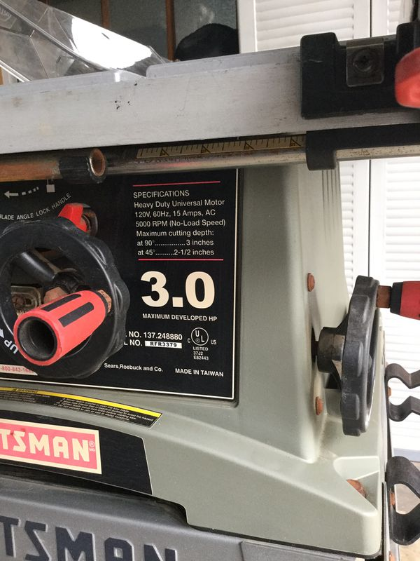 Sensational 10 Craftsman 3 0 Hp Table Saw For Sale In Riverside Ca Offerup Download Free Architecture Designs Rallybritishbridgeorg