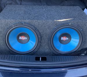 Two 12inch subwoofers BAJA for Sale in North Bethesda, MD