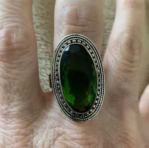 New green peridot sterling silver 925 size 8 for Sale in Inverness, IL