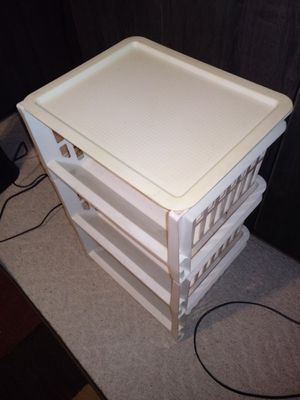 Plastic shelves and basket storage. for Sale in Bedford, TX