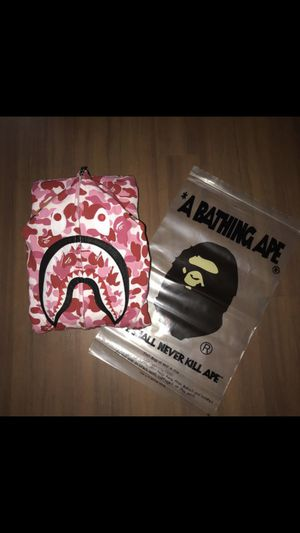 Bape pink abc camo hoodie xl for Sale in Laurel, MD