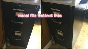 Metal file cabinet for free for Sale in Wayland, MA