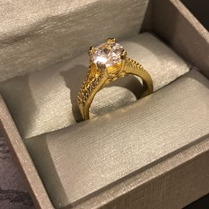 18k Gold plated Solitaire- Round Diamond 💎 Engagement / Promise Ring for Sale in San Jose, CA