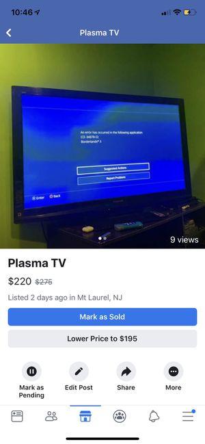 "Panasonic 50"" Plasma TV for Sale in Mount Laurel Township, NJ"