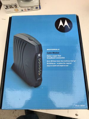 Motorola SURFboard SB5101 USB/Ethernet 100 Cable Modem for Sale in San Antonio, TX