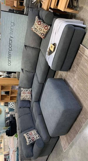 ♡SAME DAY DELIVERY☆New Ashley Steel Oversized Sectional, Couch☆Living Room☆39 Down Payment♡ for Sale in Houston, TX