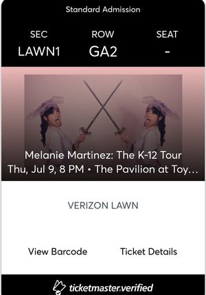 5 lawn tickets for melanie martinez concert on july 9 at toyota music factory in irving for Sale in Plano, TX
