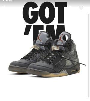 Jordan 5 Retro Off-White Black for Sale in Los Angeles, CA