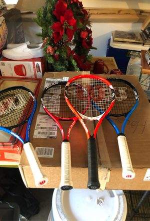 Tennis Racquets 3 Wilson and 1 Head for Sale in Rancho Cucamonga, CA