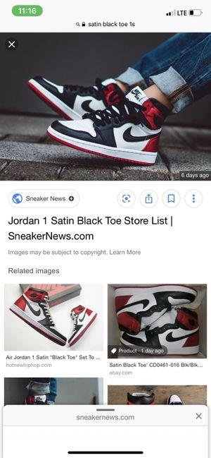 Jordan 1 Satin Black Toe for Sale in Medford, NY