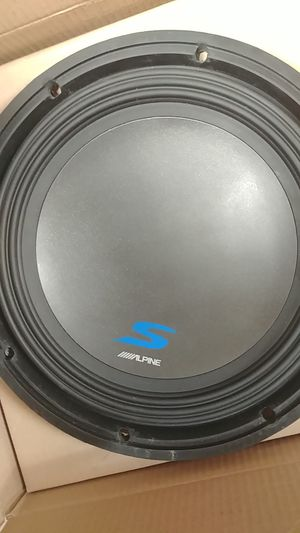 Blown alpine subwoofer sw12d4 for Sale in Portland, OR
