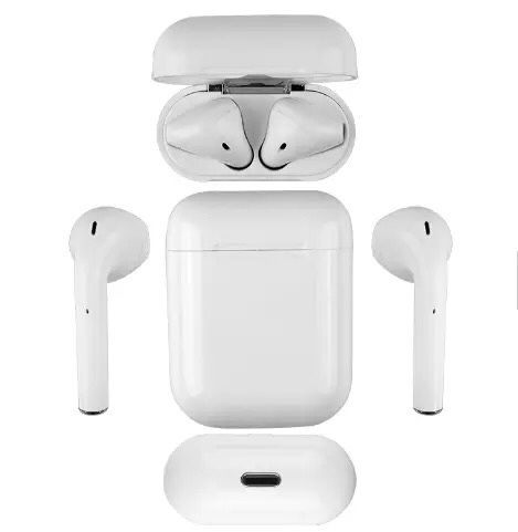 Bluetooth earphones headphones with 3 iPhone charging cables