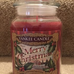 Yankee Candle Large Jar-Merry Christmas for Sale in Burtonsville, MD
