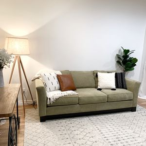 Beautiful Olive Color Sofa Couch for Sale in Auburn, WA
