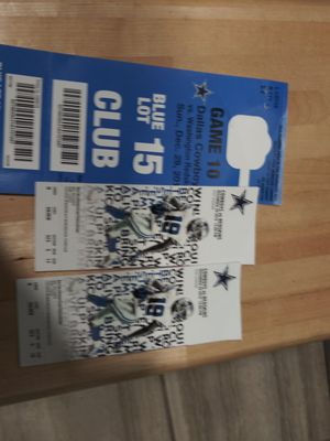 Cowboys ticket and parkin g pass for Sale in Arlington, TX
