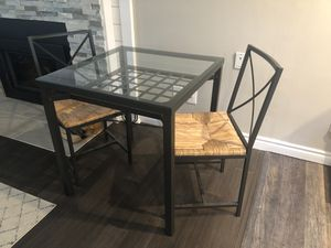 IKEA GRANAS Dining Set - glass top table and 2 chairs for Sale in Kirkland, WA