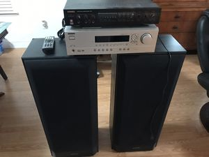 Tall Pioneer 12 inches 3 ways speaker (Made in USA), Karaoke receiver and Onkyo 5.1 system receiver/ amplifier for Sale in Fresno, CA