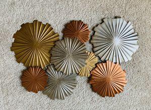 Multi-metallic circles wall decor for Sale in Washington, DC