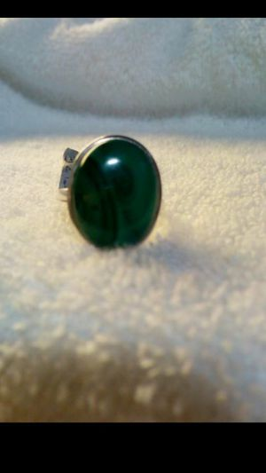 Brand new beautiful sterling silver and malichite stone women's ring size 7 1/4 ..stamped 925..smoke free home for Sale in Hemet, CA