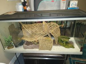 Aquarium fish tank used for Reptile sand substrate for Sale in Hammond, IN