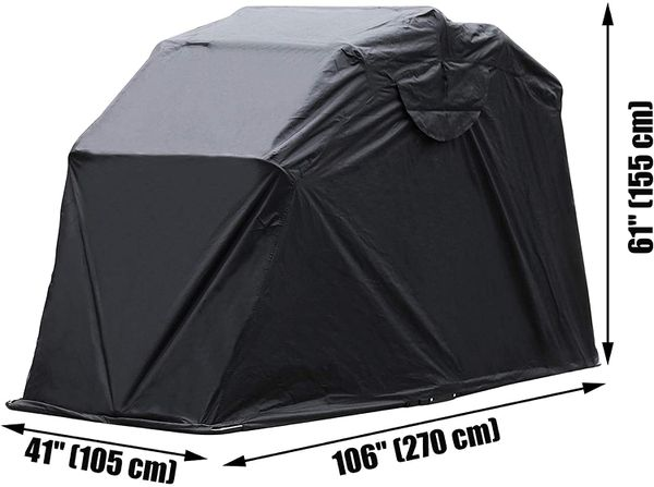 Motorcycle Shelter Shed Strong Frame Motorbike Garage Waterproof