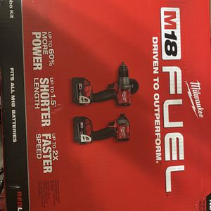 Milwaukee M18 FUEL (Gen2) Brushless Hammer Drill & Impact Driver Combo Kit New for Sale in San Diego, CA