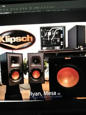 Klipsch Reference Speaker and powered Sub kot for Sale in Mesa, AZ