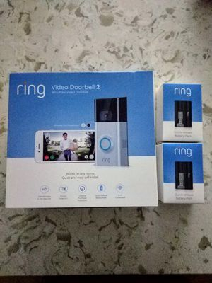 Ring video doorbell 2 with two battery packs for Sale in Dixon, MO