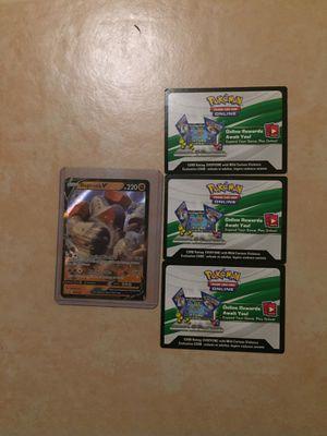 Pokémon Mint RARE Regirock V 104/202 with 3 QR codes for Sale in Las Vegas, NV