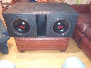 "dD AUDIO 12"" SUBS IN A Q BOMB PROBOX for Sale in Arlington, TX"