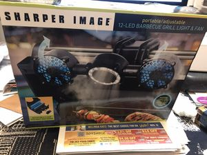 Sharper image 12-LED BBQ grill light & fan for Sale in Queens, NY