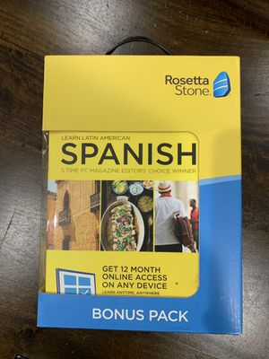 Rosetta Stone SPANISH Bonus Pack for Sale in Manassas, VA