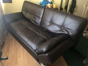 Faux Leather Futon for Sale in Vista, CA