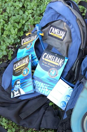 Two NEW Camelback water system backpacks: Trailblazer and Hydrobak. for Sale in Greensboro, NC