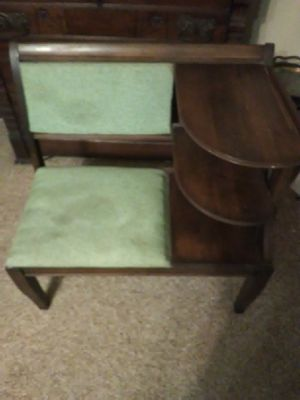 Vintage telephone table. Very nice. Real wood for Sale in DeKalb, IL
