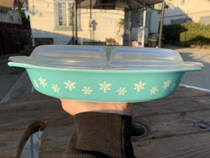 Pyrex snowflake divided dish for Sale in Pomona, CA