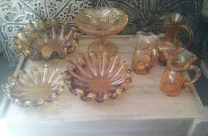 Art deco amber glass collection for Sale in Bristol, PA