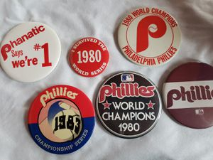 Philadelphia Phillies vintage buttons lot 6 for Sale in Factoryville, PA