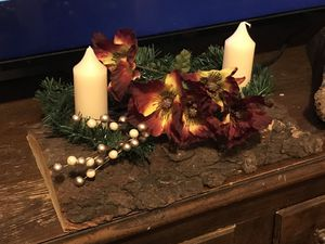 Wooden Rustic candle centerpiece handmade for Sale in Saint Joseph, MO