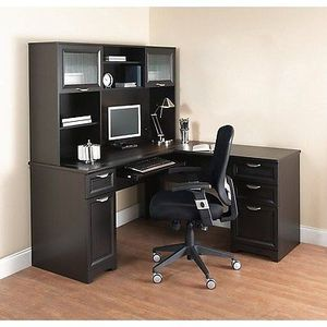 NEW L-Shaped Office DESK with HUTCH Computer Executive Corner Table Furniture BK for Sale in Woodstock, GA