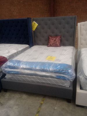 Queen Grey Chantilly Bed Frame for Sale in Greensboro, NC