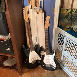 two black electric guitars for Sale in Sacramento,  CA