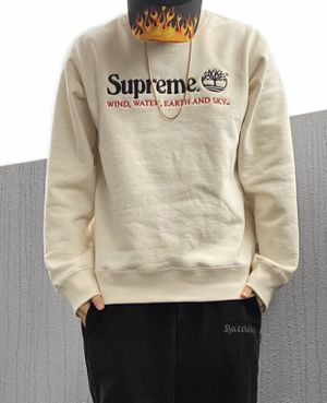 Authentic Brand New Supreme x Timberland Crewneck Natural Color Size Large for Sale in Las Vegas, NV